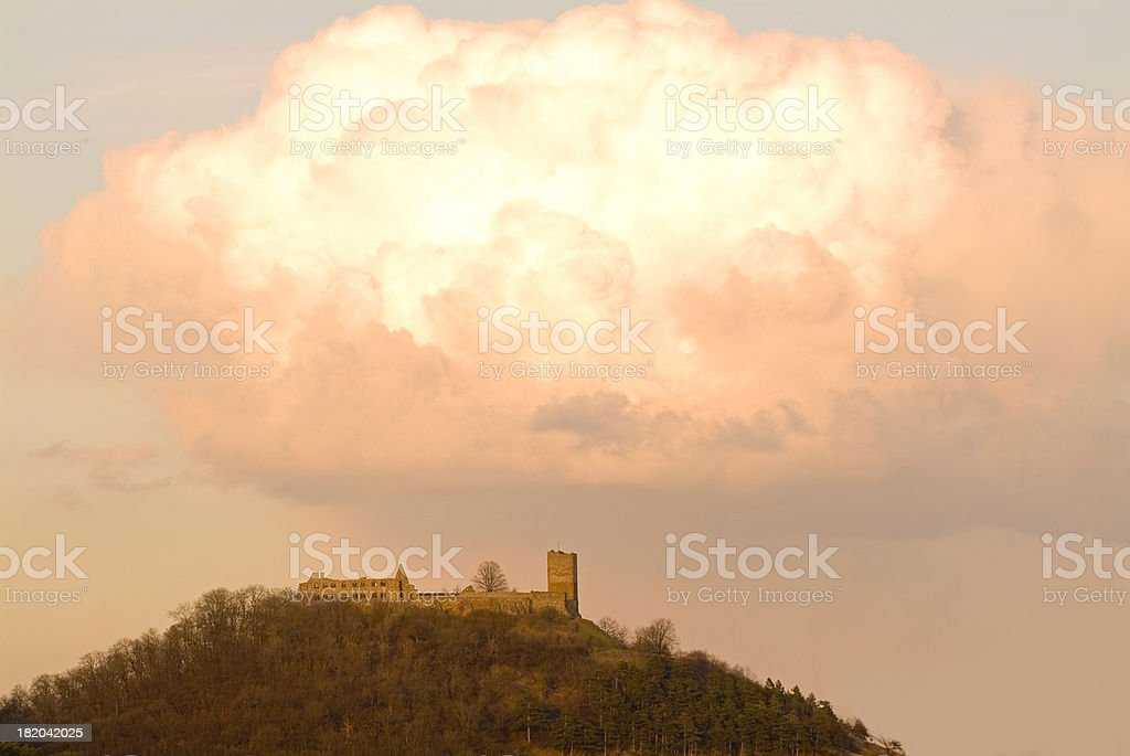 castle in the cloud stock photo