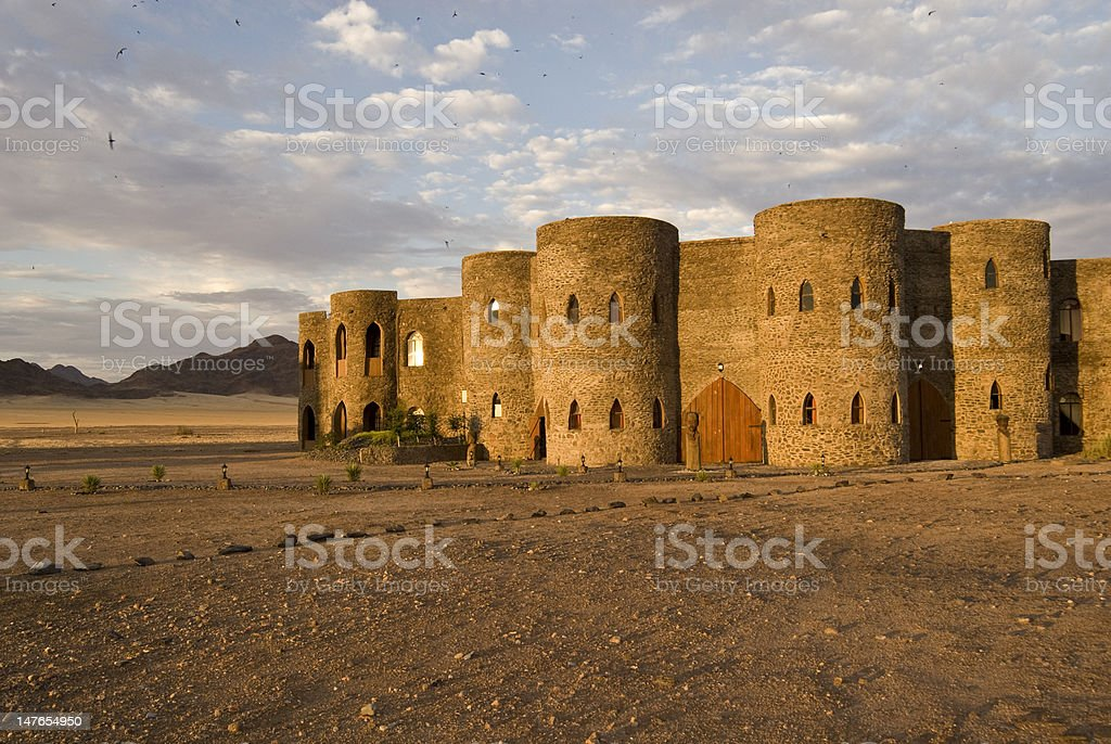 Castle in the Desert stock photo