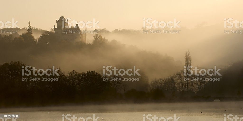 Castle in the morning royalty-free stock photo