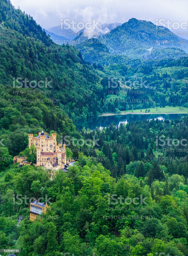 Castle in the Mountains stock photo