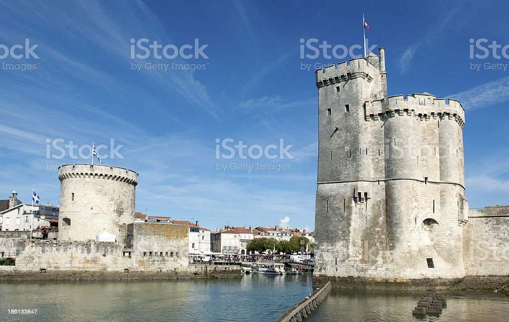 Castle in the Port of La Rochelle stock photo