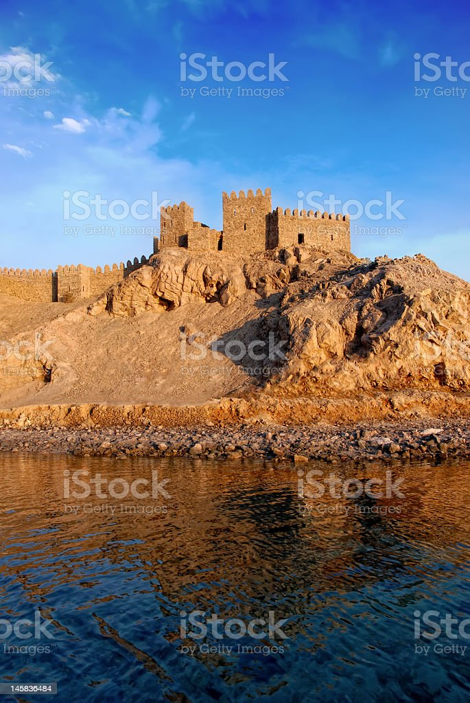 Castle in the rock royalty-free stock photo