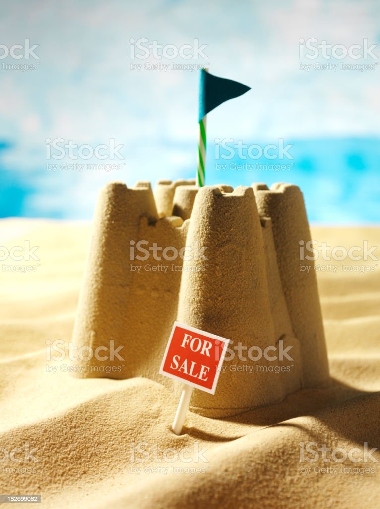 Castle in the Sand For Sale stock photo