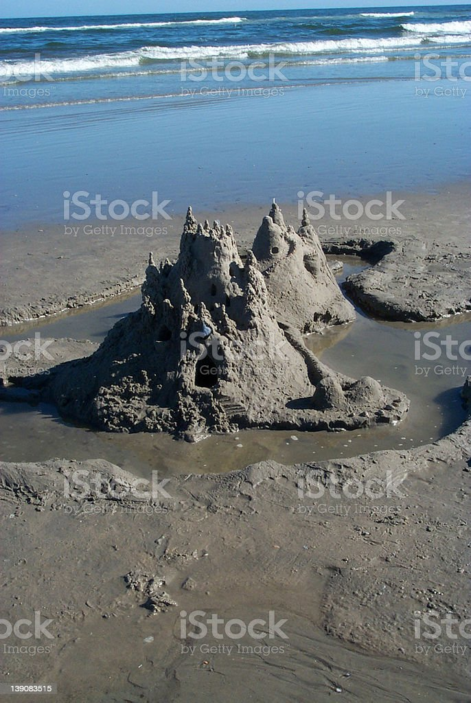Castle in the sand royalty-free stock photo