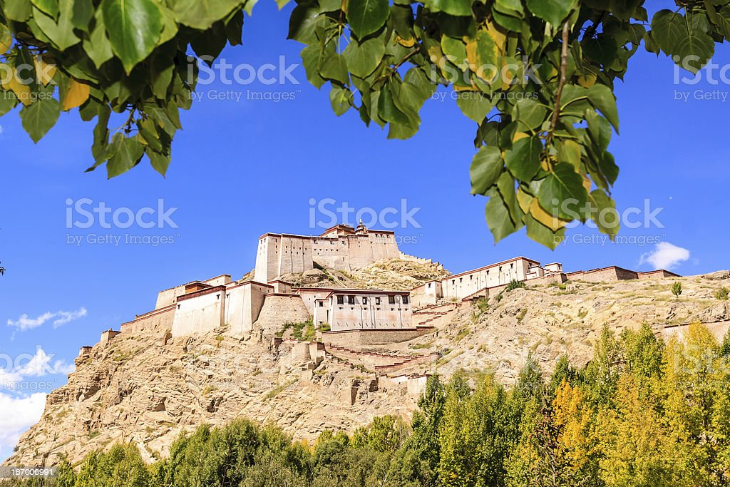 Castle in the Tibet royalty-free stock photo