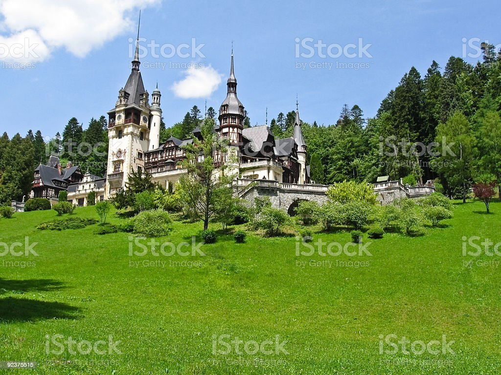 Castle in the woods royalty-free stock photo