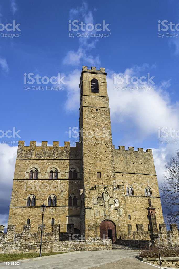 Castle in Tuscany royalty-free stock photo