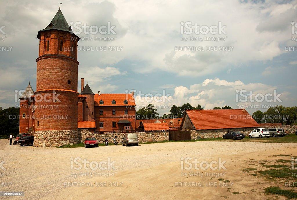 Castle in Tykocin , Poland in summer stock photo