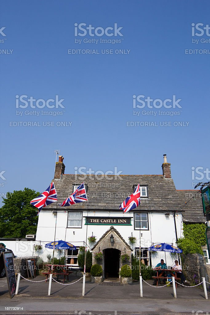 Castle Inn in Corfe, England stock photo