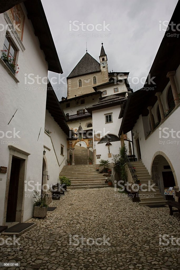 castle: inner courtyard royalty-free stock photo