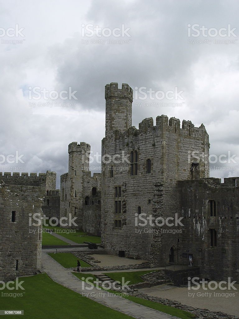 Castle Inner View royalty-free stock photo
