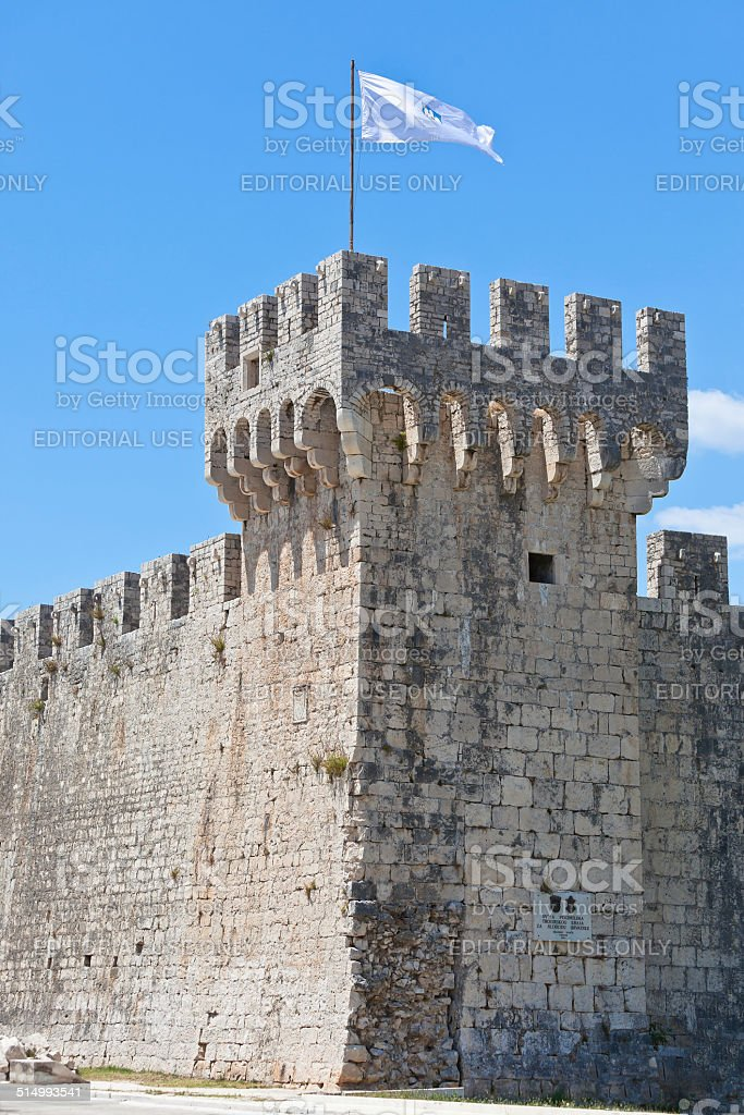 Castle Kamerlengo, Trogir, Croatia stock photo