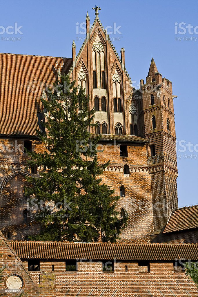 Castle Malbork in Summer, Poland stock photo