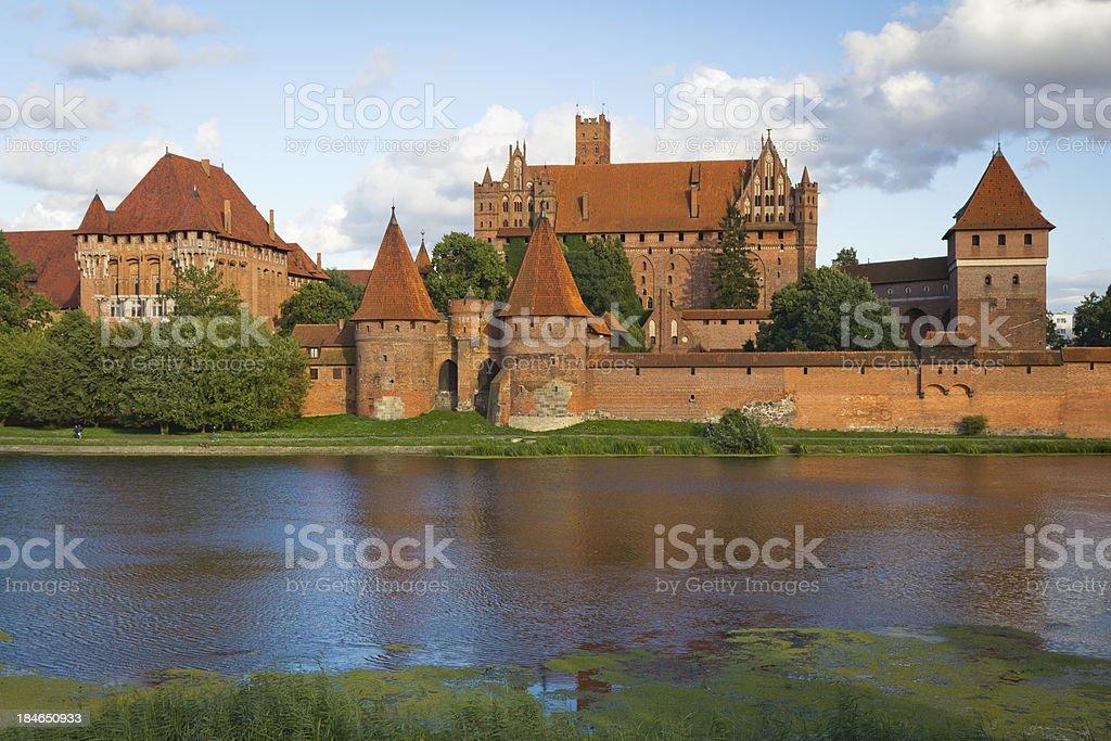 Castle Malbork in Summer, Poland stock photo