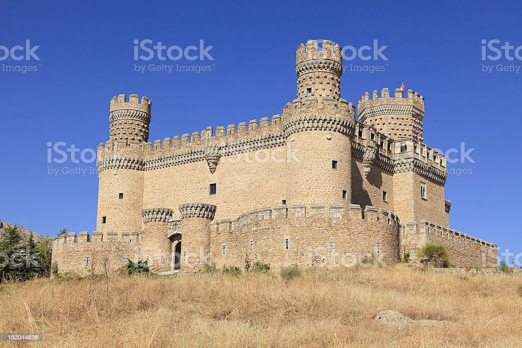 Castle Manzanares el Real royalty-free stock photo