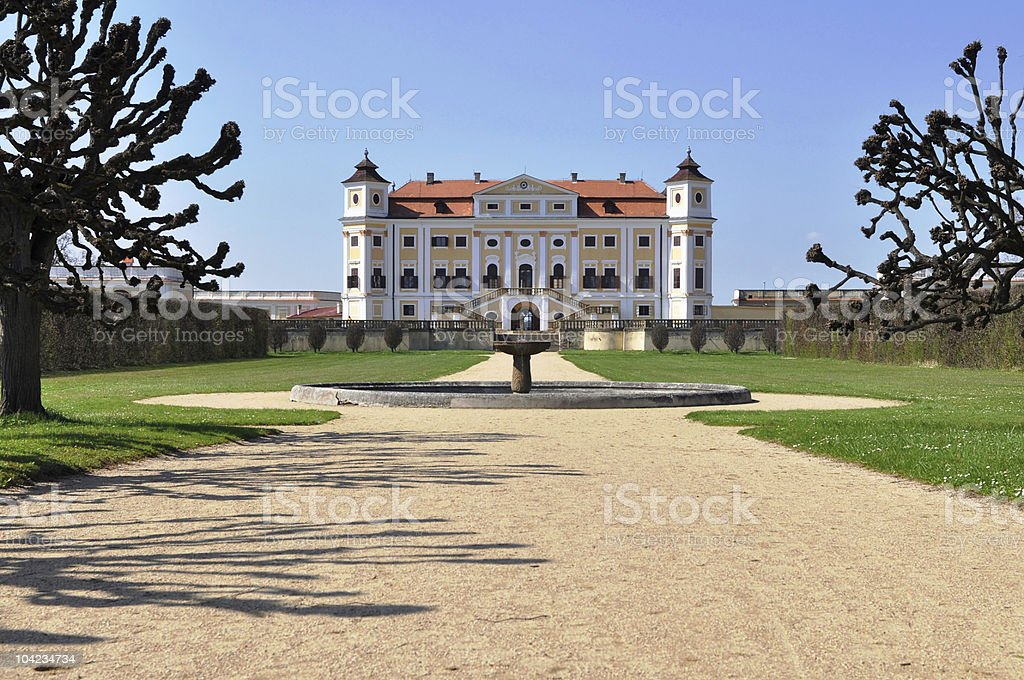 castle Milotice, Czech republic royalty-free stock photo
