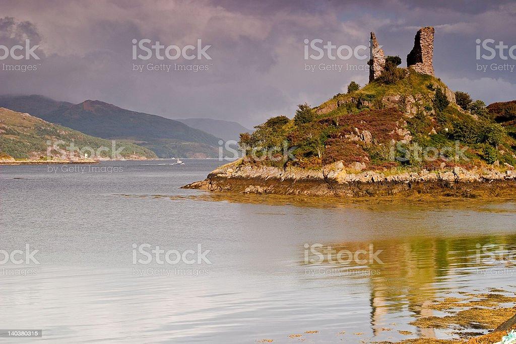 Castle Moil, Kyleakin royalty-free stock photo