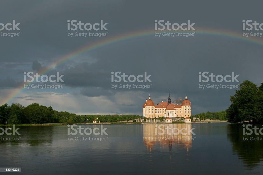 Castle Moritzburg, near Dresden, Germany stock photo