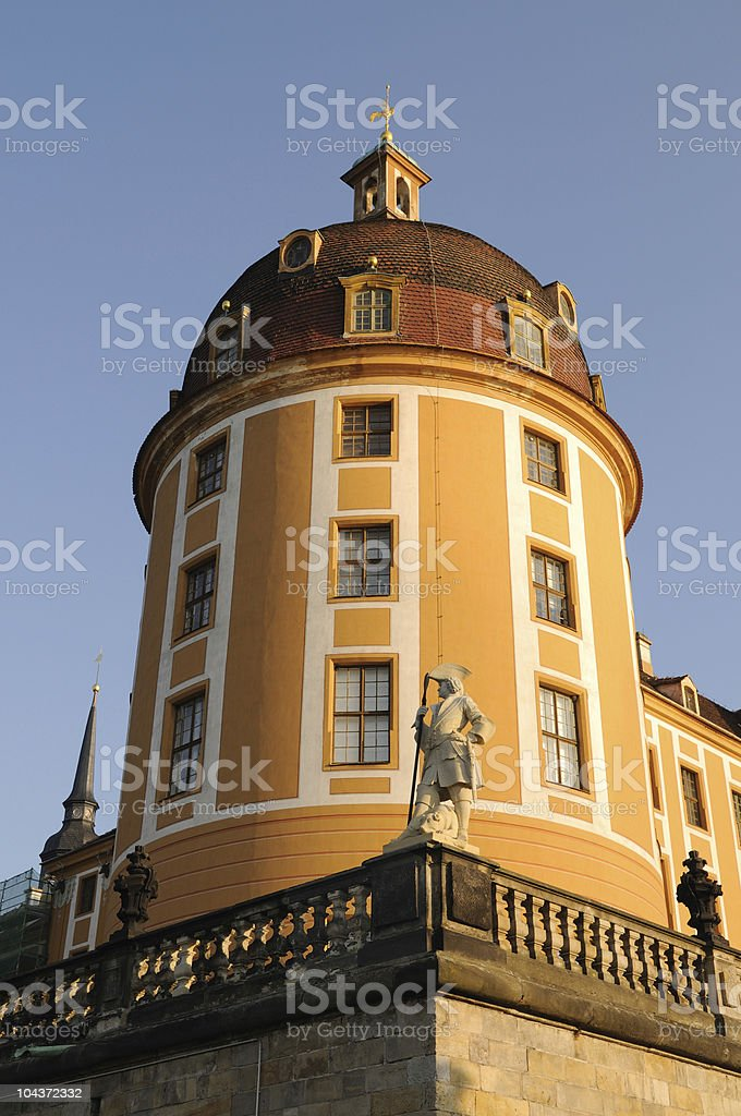 Castle Moritzburg Tower Part Front stock photo