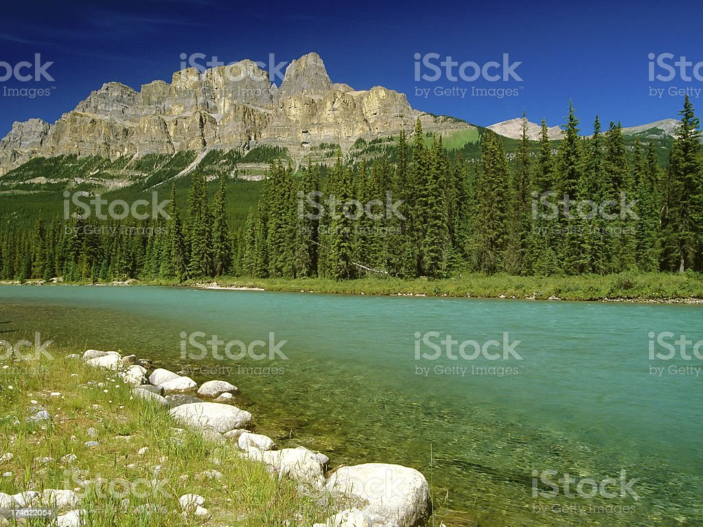 castle mountain banff national park alberta canada royalty-free stock photo