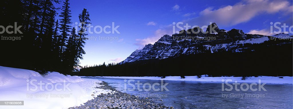Castle Mountain Panoramic royalty-free stock photo