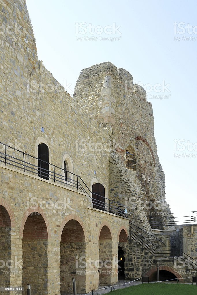 Castle Neamt in Romania stock photo