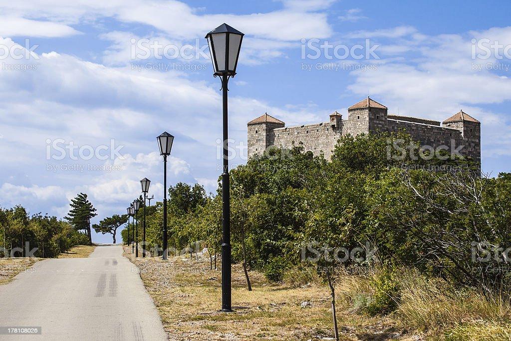 Castle Nehaj in Senj Croatia 2 stock photo