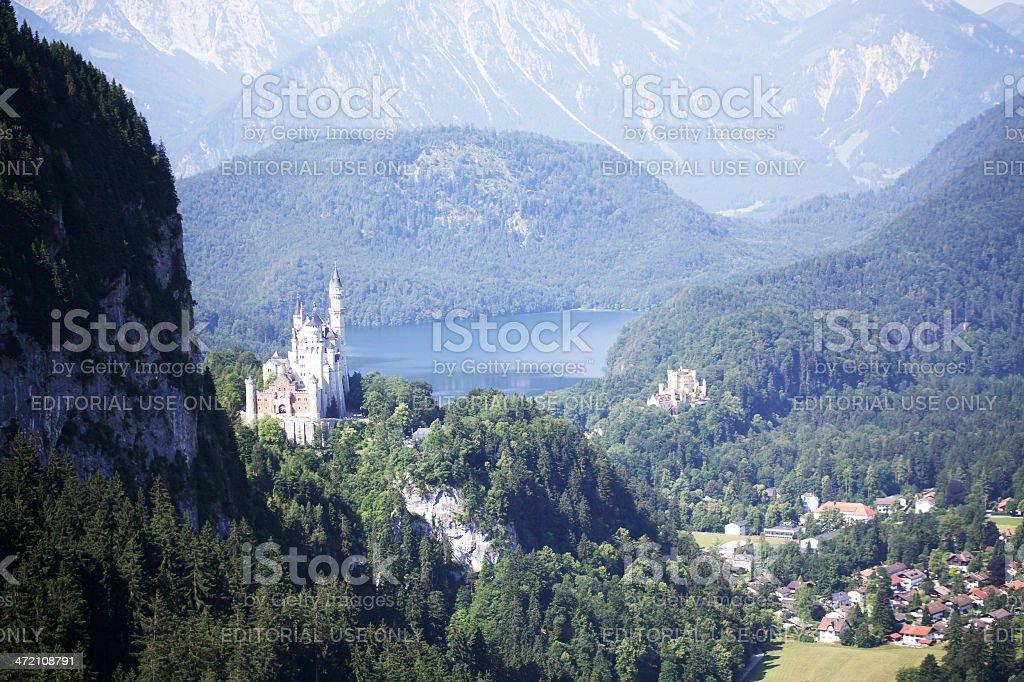 Castle Neuschwanstein and Hohenschwanstein stock photo