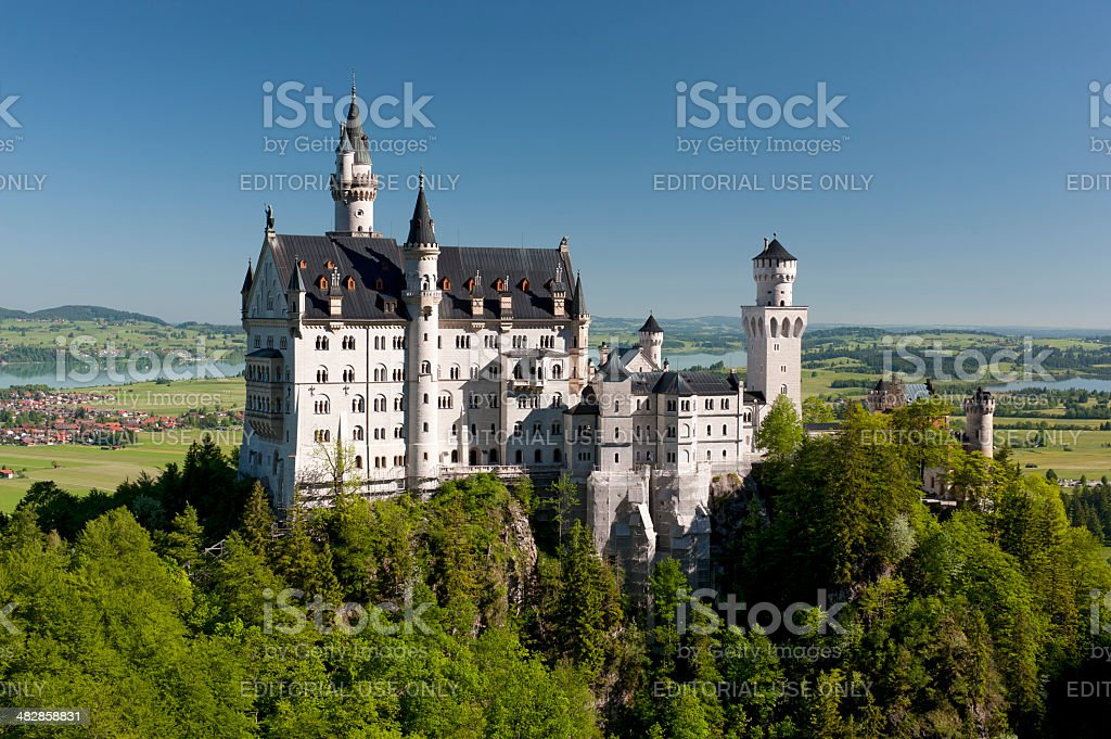 castle Neuschwanstein in Bavaria stock photo