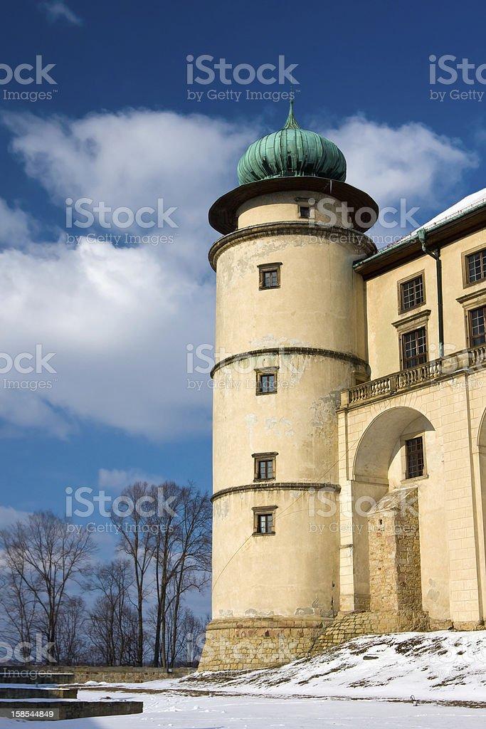 Castle Nowy Wisnicz in Poland royalty-free stock photo