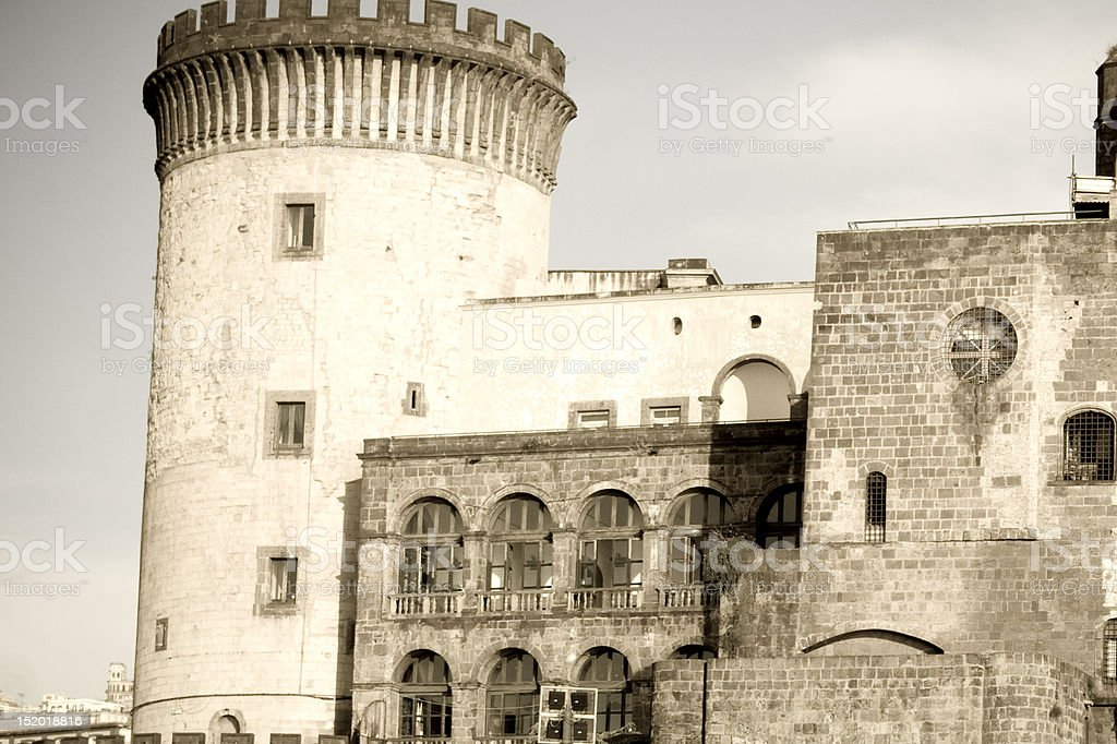 Castle Nuevo in Naples stock photo