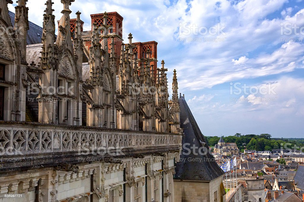 Castle of Amboise stock photo