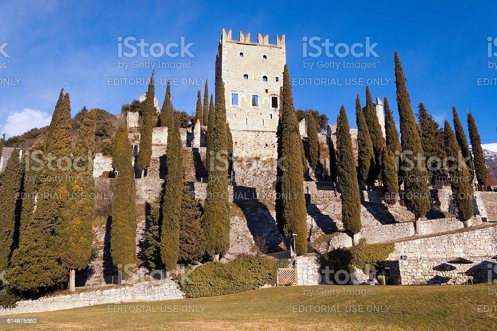 Castle of Arco di Trento - Trentino Italy stock photo