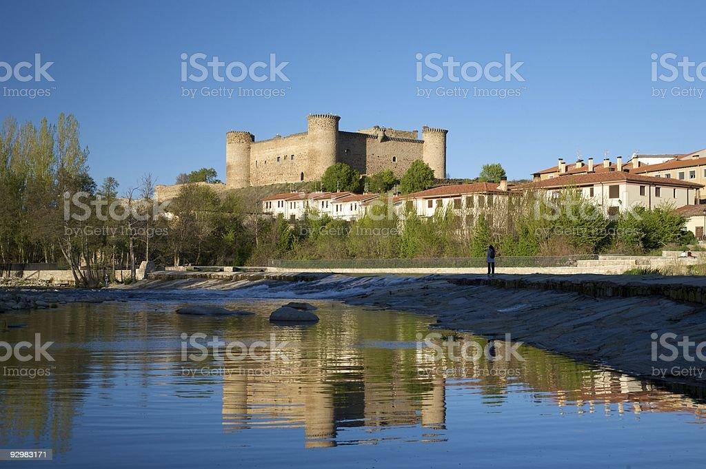 castle of Barco village Tormes river in Avila Castile Spain stock photo