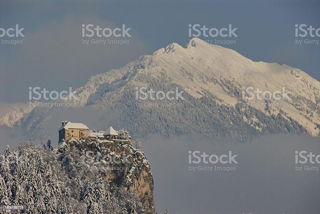 Castle of Bled stock photo