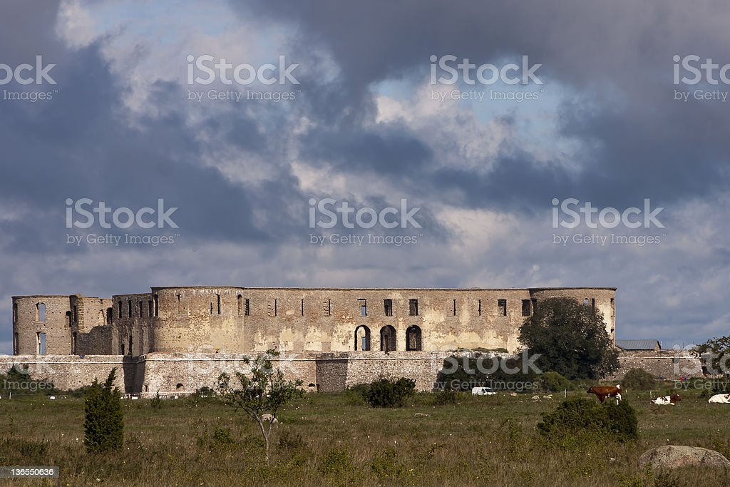 Castle of Borgholm stock photo