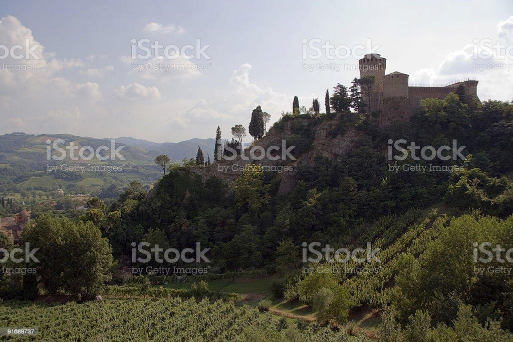 Castle of Brisighella, Romagna, Italy royalty-free stock photo