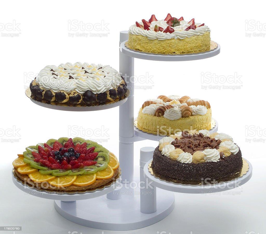 Castle of cakes stock photo