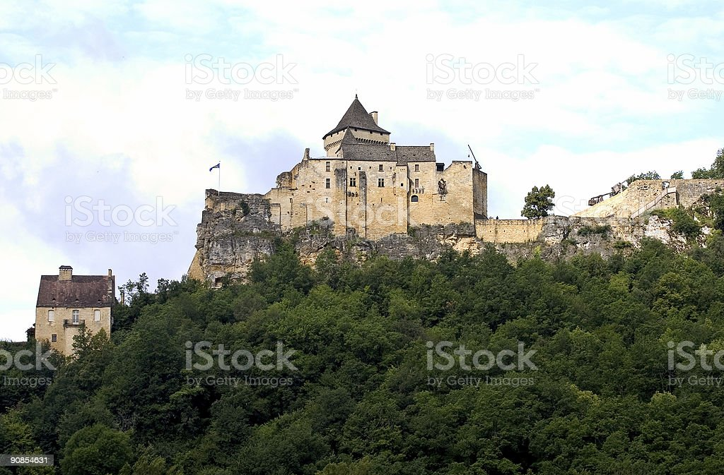 Castle of Castelnaud, France stock photo