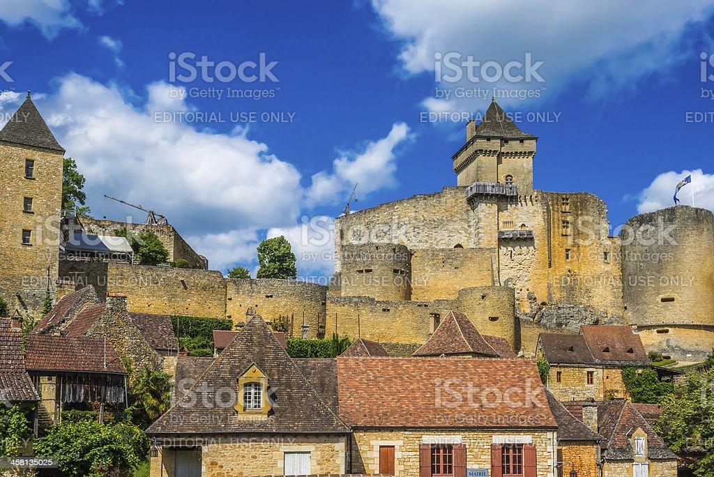 Castle of Castelnaud La Chapelle France stock photo
