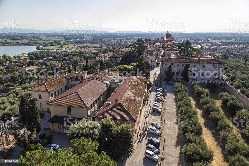 castle of Castiglione del lago, Trasimeno, Italy stock photo