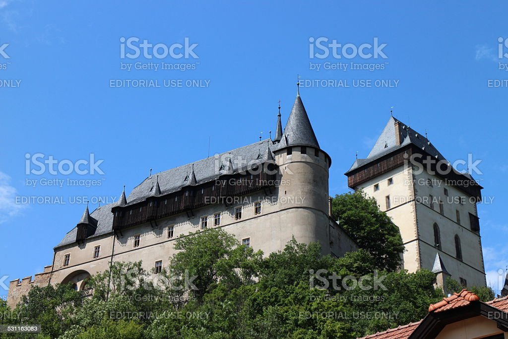 Castle of Emperor Charles IV stock photo