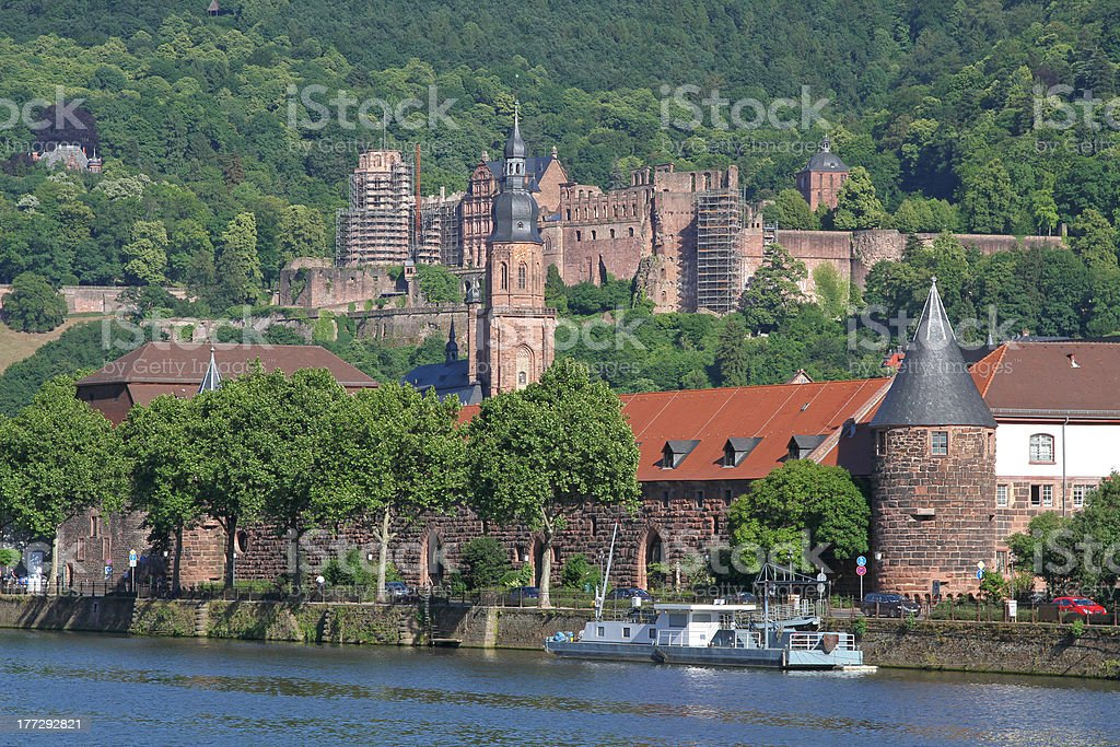 castle of Heidelberg, Germany stock photo