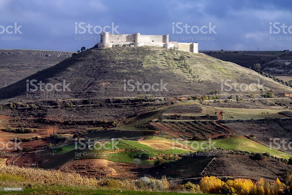 castle of Jadraque. Castile-La Mancha, Spain stock photo