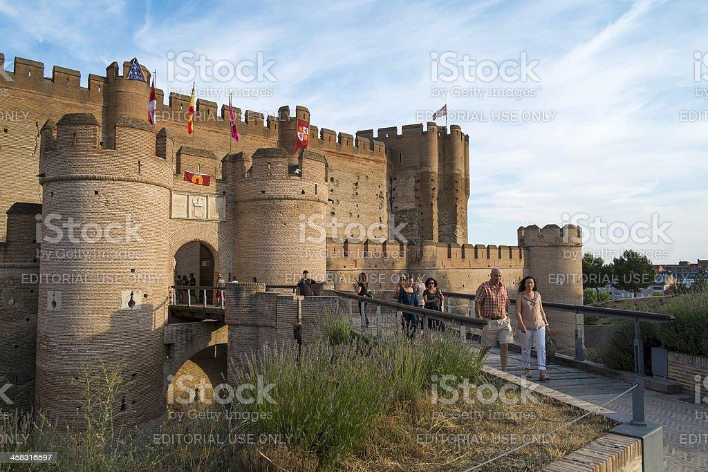 Castle of La Mota stock photo