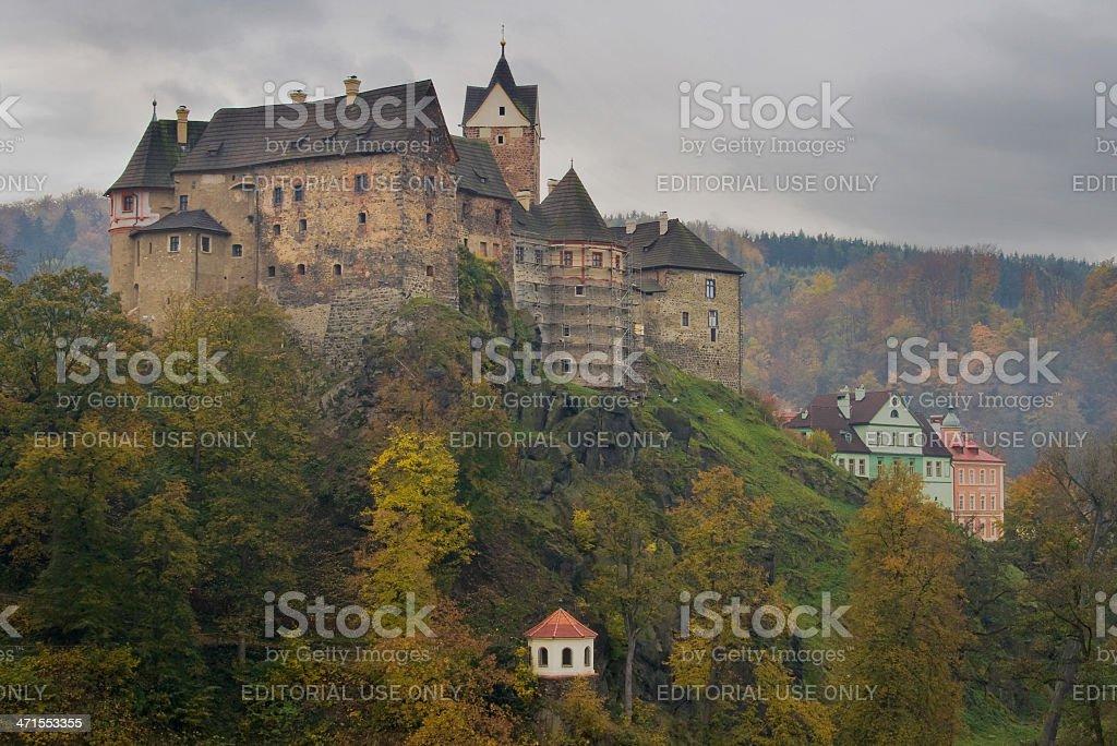 Castle of Loket royalty-free stock photo