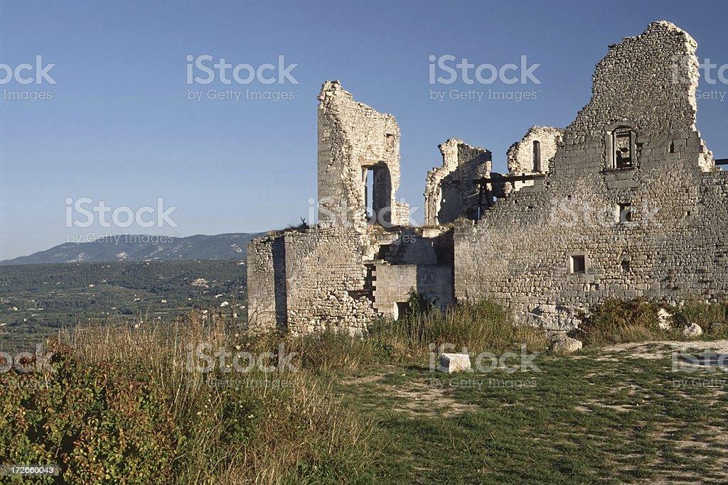 Castle of Marquis de Sade royalty-free stock photo
