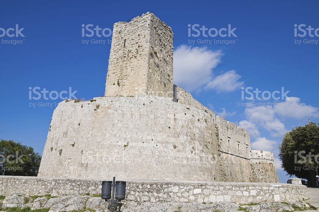 Castle of Monte Sant'Angelo. Puglia. Italy. royalty-free stock photo