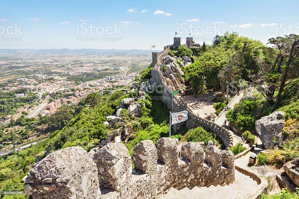 Castle of  Moors stock photo