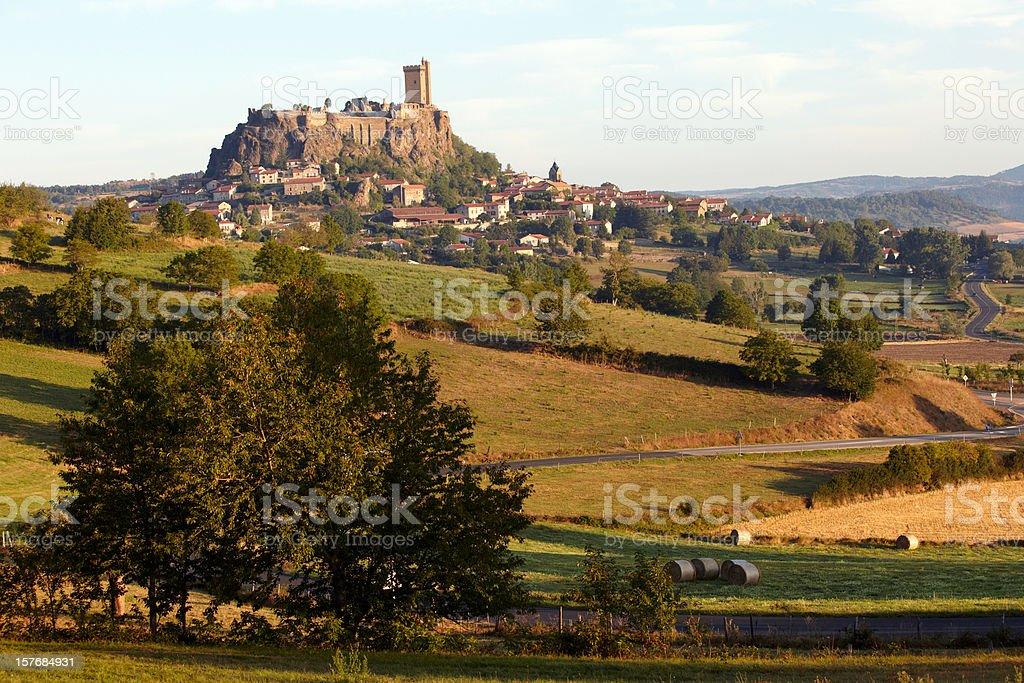 Castle of Polignac stock photo
